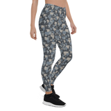 Womens Leggings & Activewear - Army Camo Continents | TopGurl Printed Athleisure - TOPGURL