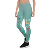 Womens Leggings & Activewear - Whimsical Garden | TopGurl Printed Athleisure - TOPGURL