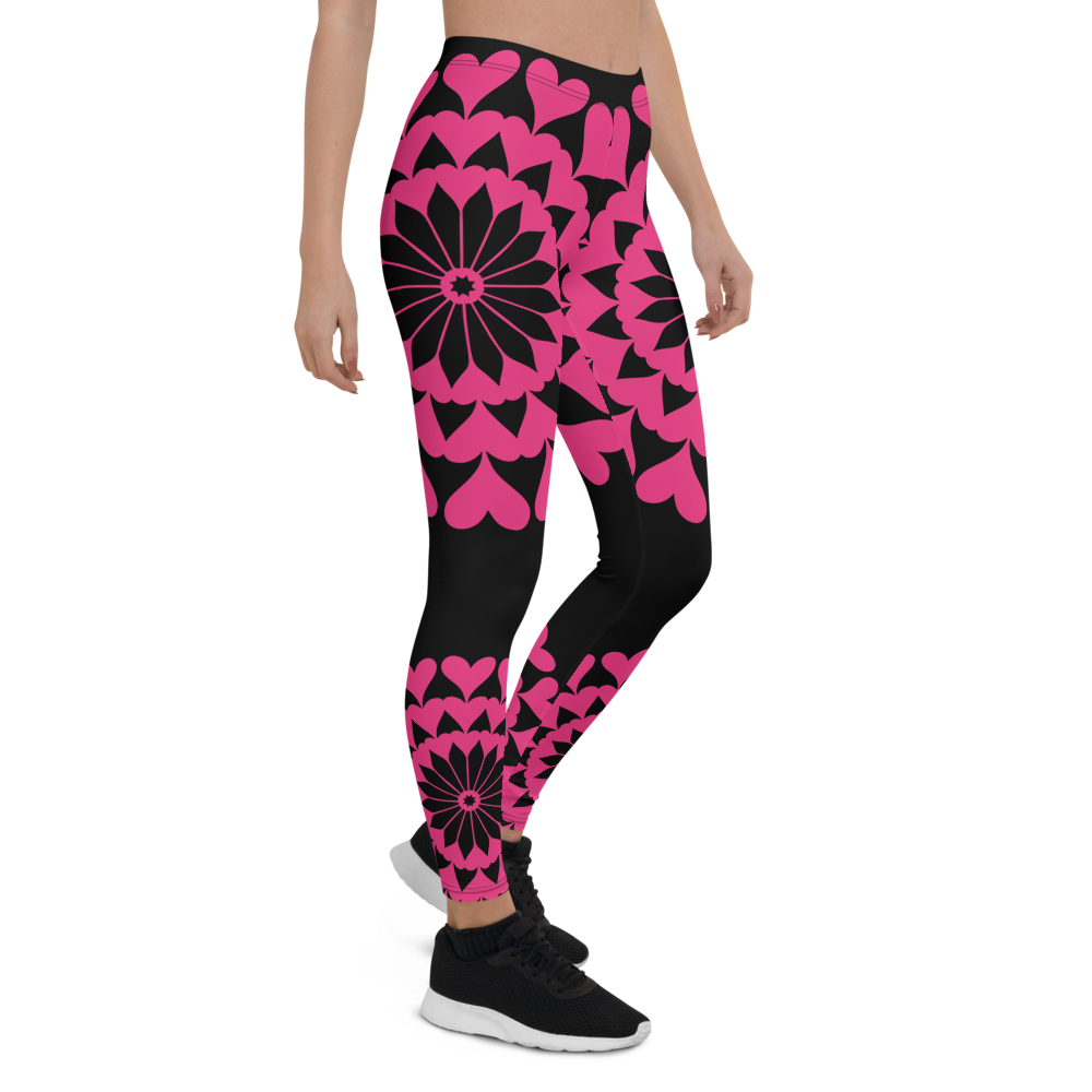 Womens Leggings & Activewear - Heart Mandala | TopGurl Printed Athleisure - TOPGURL