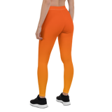 Womens Leggings & Activewear - Neon Orange | TopGurl Printed Athleisure - TOPGURL