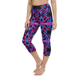 Capri Yoga Pants & High Waist Leggings - Rave Psychedelia | TopGurl Workout Printed Activewear Athleisure - TOPGURL