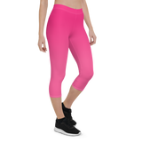 Capri Leggings & Activewear - Hot Pink | TopGurl Printed Athleisure - TOPGURL