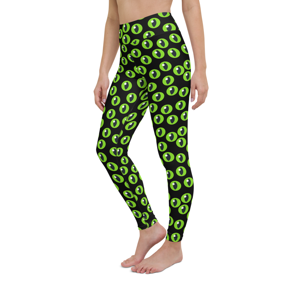 Yoga Pants & High Waist Leggings - Evil Green Eyes | TopGurl - TOPGURL