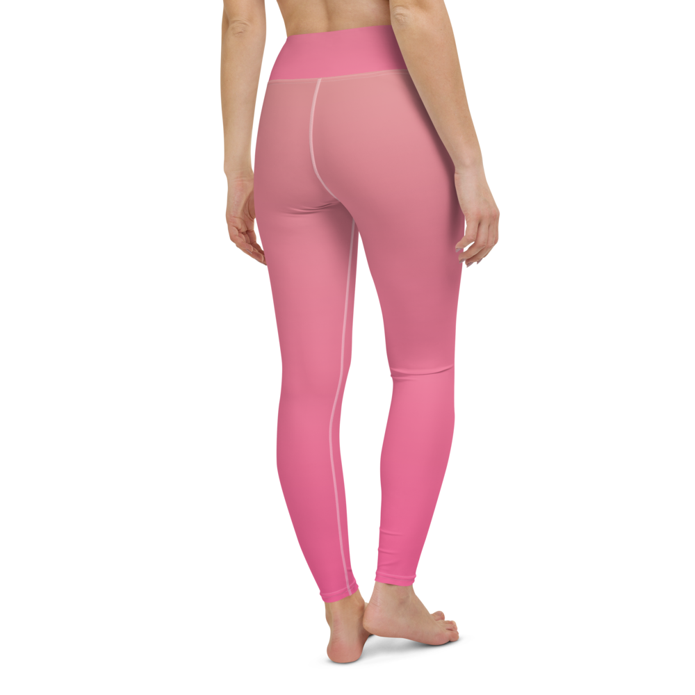 Yoga Pants & High Waist Leggings - Pink & Rose | TopGurl Workout Printed Activewear Athleisure - TOPGURL