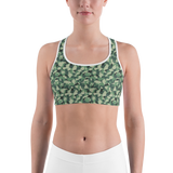 Sports Bra - Army Camo Green | Activewear | TopGurl Printed Athleisure - TOPGURL