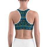 Sports Bra - African Tribal Pattern | Activewear | TopGurl Printed Athleisure - TOPGURL