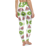 Yoga Pants & High Waist Leggings - Berry And Melon | TopGurl Workout Printed Activewear Athleisure - TOPGURL