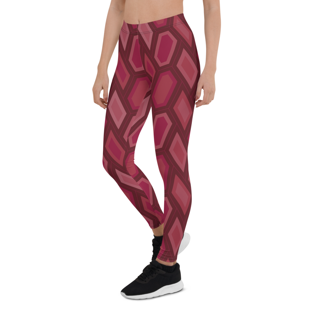 Womens Leggings & Activewear - Crimson Scales | TopGurl Printed Athleisure - TOPGURL