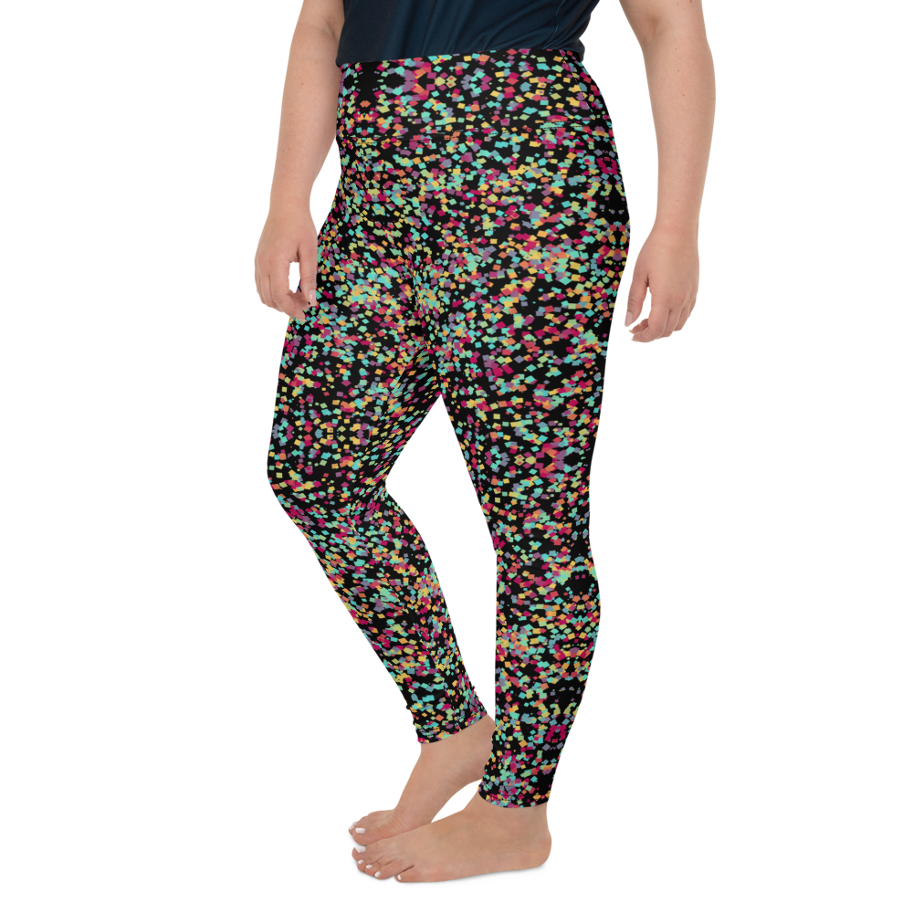 Plus Size Leggings & Yoga Pants - Color Cosmos | TopGurl High Waist Workout Printed Activewear Athleisure - TOPGURL