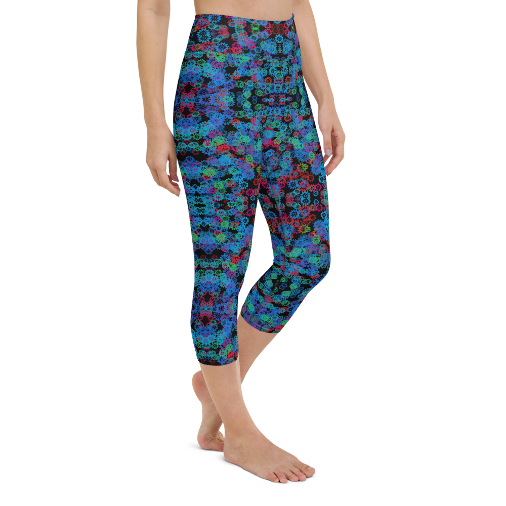 Capri Yoga Pants & High Waist Leggings - Psychedelic Forest | TopGurl Workout Printed Activewear Athleisure - TOPGURL