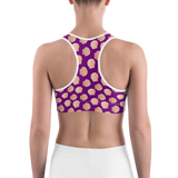 Sports Bra - Sea Shells 2 | Activewear | TopGurl Printed Athleisure - TOPGURL