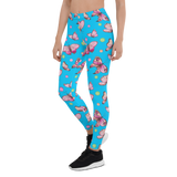 Womens Leggings & Activewear - Pink Butterflies | TopGurl Printed Athleisure - TOPGURL