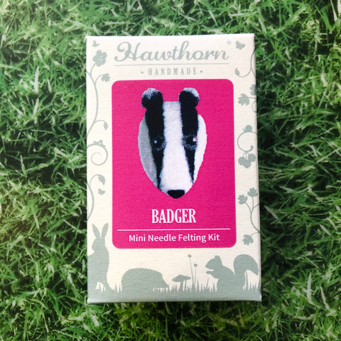 Badger Needle Felt Brooch Kit