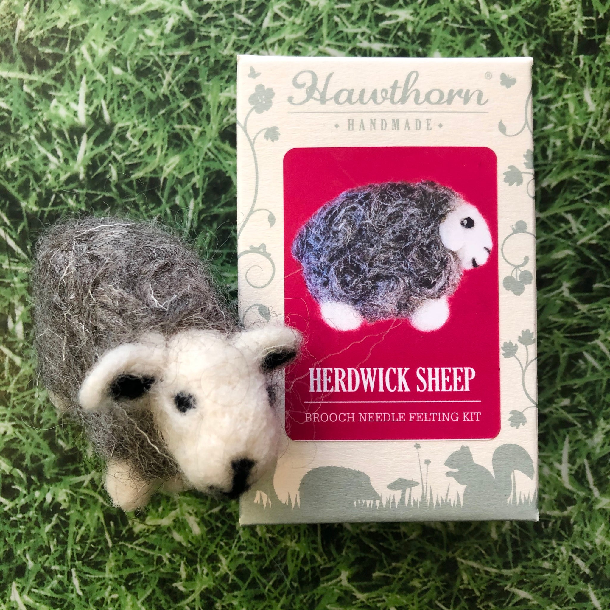 Herdwick Sheep Needle Felt Brooch Kit