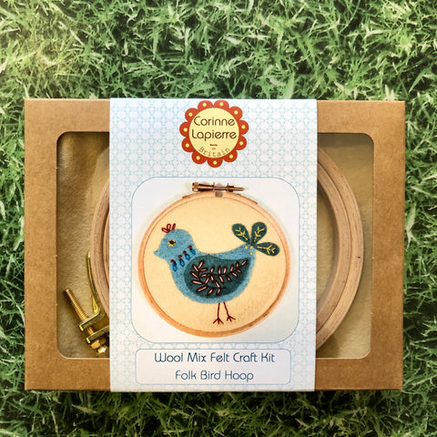 Bird Mini Felt Applique Hoop Kit