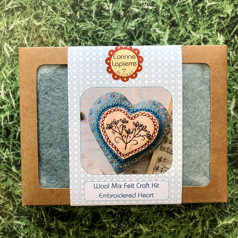 Heart Mini Felt Embroidery Kit