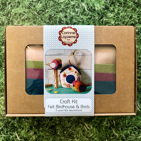 Birds & Birdhouse Felt Kit