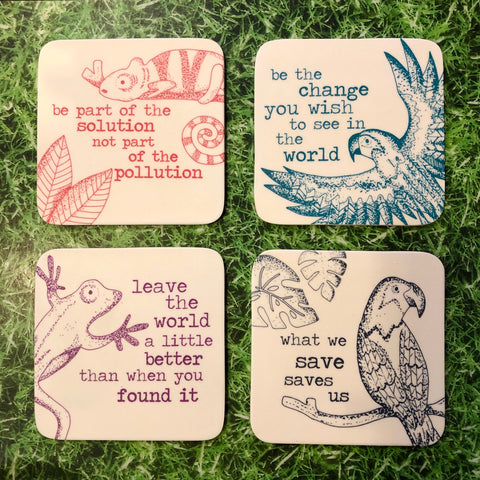 Milly Green Recycled Coaster Set
