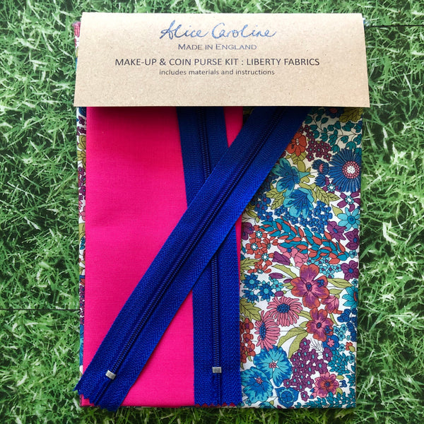 Liberty Fabric Make Up & Coin Purse Kit