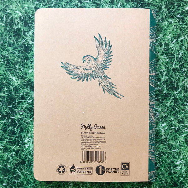 Milly Green Recycled Notebook