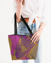 Load image into Gallery viewer, Purple Power Canvas Zip Tote