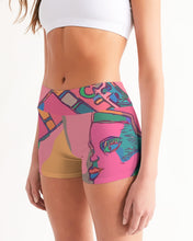 Load image into Gallery viewer, Precious Pink Mid-Rise Yoga Shorts