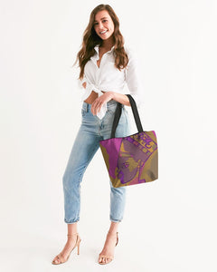 Purple Power Canvas Zip Tote