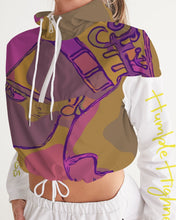 Load image into Gallery viewer, Purple Power Women's Cropped Windbreaker Hoodie