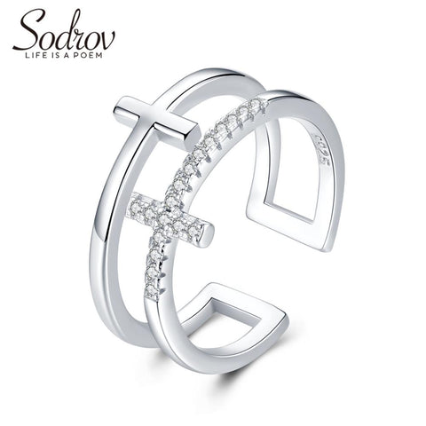 SODROV Silver 925 Jewelry Silver Rings