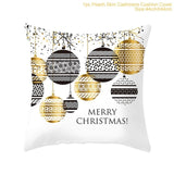 Elk Snowflake Santa Claus Christmas Pillowcase