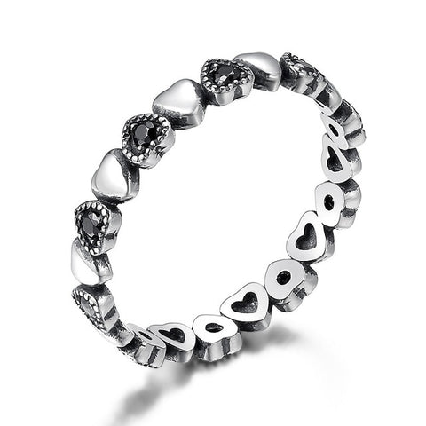 BAMOER Genuine 925 Sterling Silver Stackable Ring