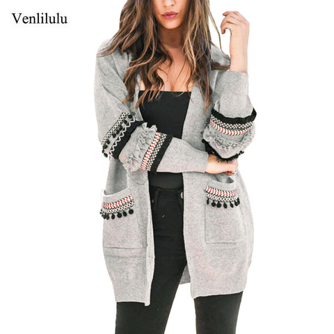 2019 Autumn Long Cardigan Women Sweaters