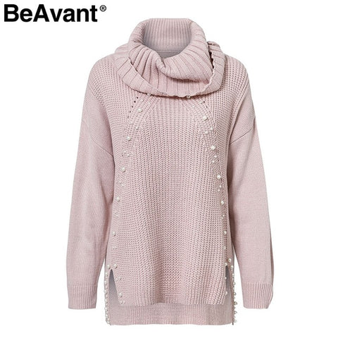 BeAvant Turtleneck plus size loose knitted sweater