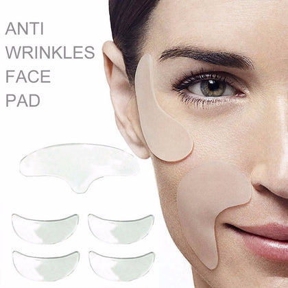5pcs Silicone Anti Wrinkle Eye Pad