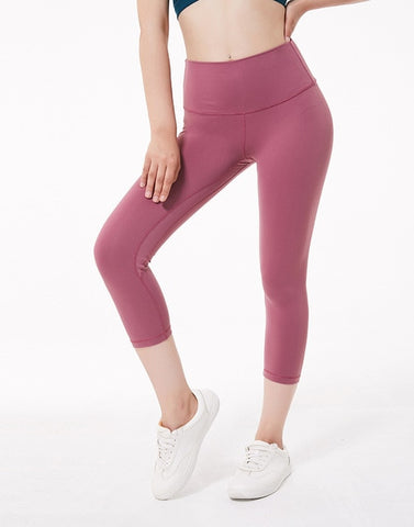 Women Sports Capris Yoga High Elastic Waist