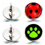 Miraculous Ladybug Stud Earrings
