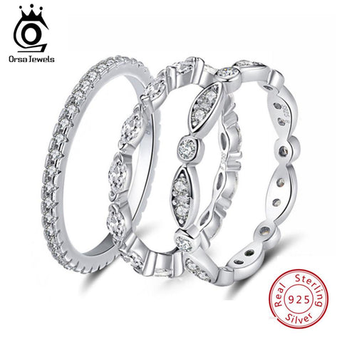 ORSA JEWELS Real 925 Sterling Silver Women Rings