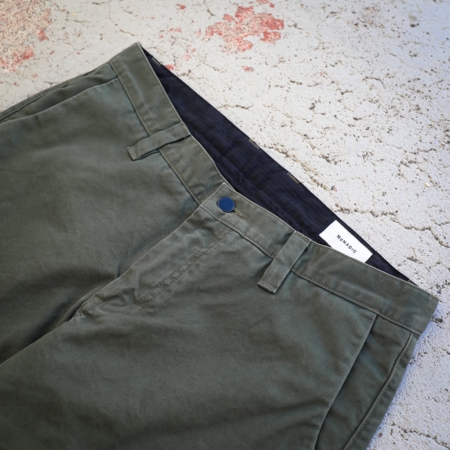 Relaxed Taper Cargo Chino Olive Drab