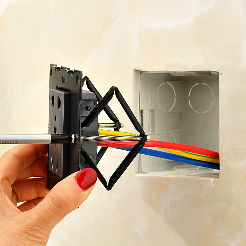 Wall Mount Switch Box Repair Tool Secret Stash 86mm Switch Cassette Repairer Support Rod Electrician Accessories 6pcs