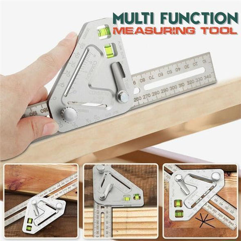 Practical Roof Revolutionizing Carpentry Utensil Multi-Function Measuring Tool Angle Ruler Protractor Carpenter Tools