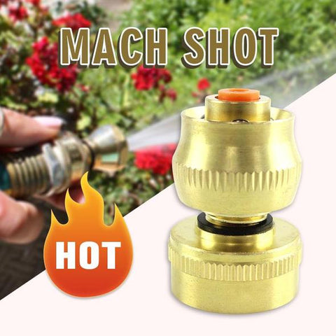 Water Pipe Booster Mach Shot Connectors Hose Tap Adaptor Universal Brass Connector Watering Pipe Fitting Set Garden Irrigation