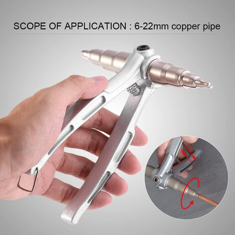 "Copper Pipe Tube Expander Hand Expanding Tool Universal Refrigeration Tools Copper Pipe Swaging Tool Tube 1/4""~7/8""(6-22mm)"