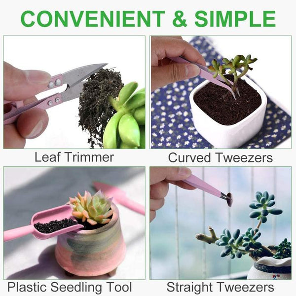 12 Pcs Mini Garden Hand Tools Set