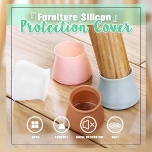 Table Chair Leg Mat Silicone Non-slip Table Chair Leg Caps Foot Protection Bottom Cover Pads Wood Floor Protectors