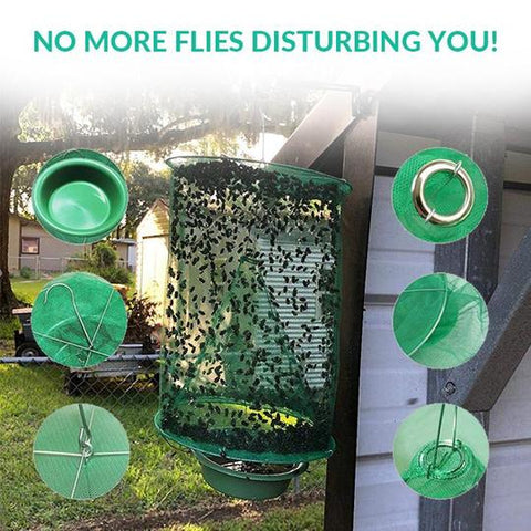 Folding Fly Trap Mosquito 1PCS Flies Mesh Net Reusable Cage Catcher Insect Killer Bug Home & Garden Outdoor Summer