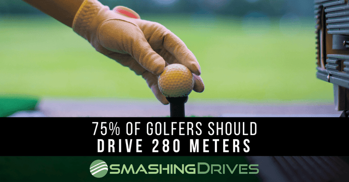 Clubhead Speed Says 75% Of Golfers Should Drive 280 Meters