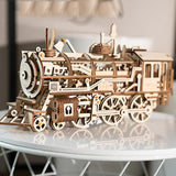 ROBOTIME STEAM DIY Wooden Robot Toy Steam Train Airship Tractor Off Road Educational Toy Gift