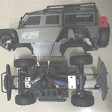 2 Battery HB Toys ZP1001 1/10 2.4G 4WD Rc Car Proportional Control Retro Vehicle w/ LED Light RTR Model