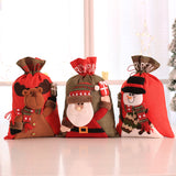 Large Christmas Santa Claus Sack Snowman Children Christmas Gifts Candy Stocking Bag