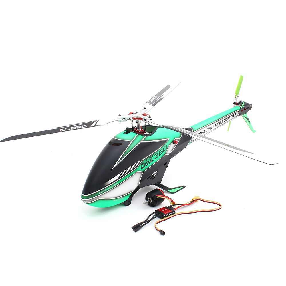 ALZRC Devil 380 FAST Three Blade Rotor TBR RC Helicopter Standard Combo With Brushless Motor 60A V4 ESC
